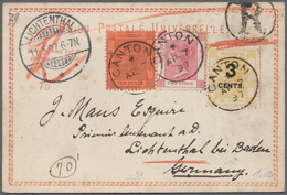 China - Fremde Postanstalten / Foreign Offices: 1897, Hong Kong Used In China : 3c. On 16c. Yellow P - China