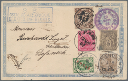 """China - Fremde Postanstalten / Foreign Offices: 1902, Japanese 1½ S. Gray, Tied To Violet K1 """"TIENTS - China"""