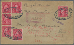 """China - Fremde Postanstalten / Foreign Offices: USA, 1914, 2 C. (6 Inc. Unit-4) Tied Oval """"U.S. POST - China"""