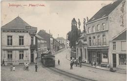 JODOIGNE. Place Urban. Avec Le Tram à Vapeur Stoomtram. Postée 1908. Voir Les 2 Scans. Bon état - Jodoigne