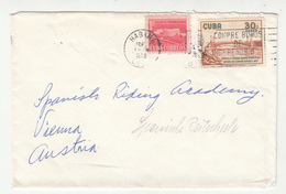 Cuba Letter Cover Travelled 1958 To Austria B190601 - Cuba