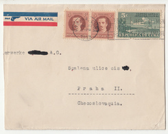 Cuba Air Mail Letter Cover Travelled 1938 To Czechoslovakia B190601 - Cuba