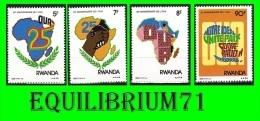 1333/1336** - 25e Anniversaire De L'O.U.A - RWANDA - Rwanda