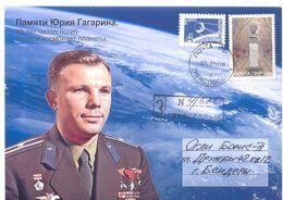 2018. Transnistria, Space, Y. Gagarin, In Memorim(1968-2018), Letter Sent By Registered Post - Moldavia