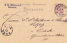 EP Michel P 10 Obl GÜSTROW. Du 21.3.85 Adressé à Lübeck - Allemagne