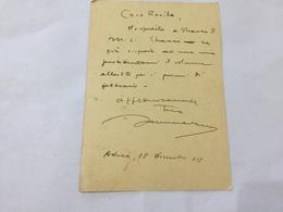 CARTOLINA AUTOGRAFATA NINO SAMMARTANO/GINO ROVIDA R.LICEO BOCCHI ADRIA ROVIGO - Mestieri