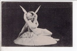 Cpa Carte Postale Ancienne  - Amoree Psiche - Canova - Sculture
