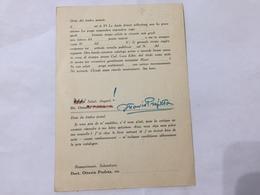 CARTOLINA AUTOGRAFATA OTTAVIO PROFETA CEDOLA LIBRARIA/GINO ROVIDA - Mestieri