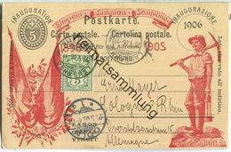 Postkarte - Einweihung Des Simplontunnels - Inauguration-Eröffnung-Inaugurazione-1906 - Labor Omnia Vincit - Ganzsachen