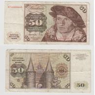 50 MARK  1 JUNI 1977 - N° KF 4699960 S - 50 Deutsche Mark