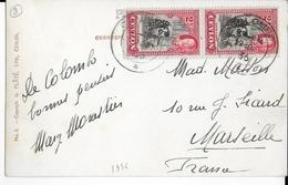 CEYLAN - 1936 - CARTE De COLOMBO => MARSEILLE - Ceylon (...-1947)