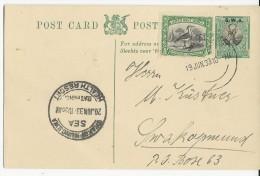 1933 - SWA (EX COLONIE ALLEMANDE) - CARTE ENTIER SWAKOPMUND - - Südwestafrika (1923-1990)