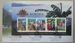 Australia 2010. Kokoda. Set Of 3 FDCs - Militaria