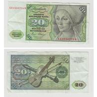20 MARK  2 JANUAR 1980 - N° GH 6836778 M - 20 Deutsche Mark