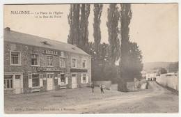 MALONNE. Prés De Namur. La Place De L' Eglise Et La Rue Du Fond. Postée 1906. Edit. V. Gillain .Epicerie L' Abeille. - Unclassified