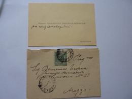 """Busta Viaggiata Con Biglietto Da Visita """"Farmacista Morelli Michelangelo, Amantea"""" 1934 - Storia Postale"""