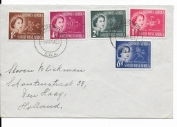 SWA - 1953 - SERIE COMPLETE DU COURONNEMENT Sur ENVELOPPE De SWAKOPMUND => DEN HAAG (HOLLAND) - Südwestafrika (1923-1990)