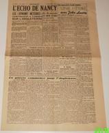 L'écho De Nancy Du 19 Juin 1944.(Prequ'île Du Cotentin) - Revues & Journaux