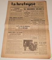 La Bretagne Du 5 Novembre 1942.(Pétain En Photo Avec Certains Cardinaux) - Revues & Journaux