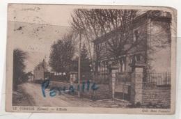 23 CREUSE - CP LE COMPEIX - L'ECOLE - COLL. Mme POMMIER - CIRCULEE EN 1936 - Sonstige Gemeinden