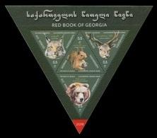 Georgia 2018 Mih. 719/22 (Bl.82) Fauna. Red Book Of Georgia. Protected Animals MNH ** - Georgia