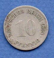 Allemagne  -  10 Pfennig 1893 F   -  état  TB - [ 2] 1871-1918: Deutsches Kaiserreich