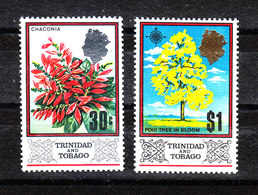 Trinidad &Tobago -1969.Chaconia Flower E Poui Tree. Fiore E Albero Nazionale Di Trinidad.  MNH - Flora