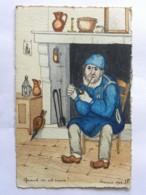 CP Illustrateur JP Godreuil - 1916 - Quand On Est Vieux !... Dessin Homme à La Pipe Devant La Cheminée - Otros Ilustradores