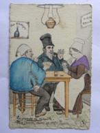 CP Illustrateur JP Godreuil - 1916 - La Joueuse De Manille (cartes) Plus J'écarte, Moins ça Rentre !!!... - Otros Ilustradores