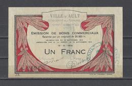 Bon Nécessité  Ville D'AULT  Bon De 1.00F - Bonos