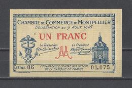Chambre De Commerce De MONTPELLIER  Billet De 1.00F - Cámara De Comercio