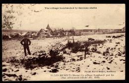51 - LES MENEUX (Marne) - Le Village Bombardé Par Les Obus Allemands (Cliché Déc. 1918) - Other Municipalities