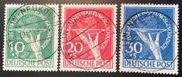 Berlin 1949 Währungsgeschädigte Mi 68-70 STEMPEL FALSCH  (Deutschland Economy Bear Economie - [5] Berlino