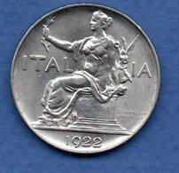 Italie - 1 Lire 1922 R - Km # 62  -  état SUP - Rare En L état - 1900-1946 : Victor Emmanuel III & Umberto II