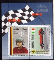 UNITED ARAB EMIRATES AJMAN 1969 MANAMA FERRARI WOLFGANG VON TRIPS CARS RACING BLOCK SHEET BLOCCO FOGLIETTO MNH - Ajman