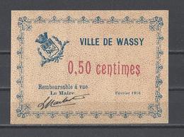 Bon Nécessité  Ville De WASSY  Bon De 50c - Bonos