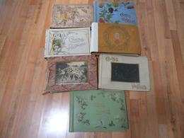 Lot De 7 Anciens Albums De Cartes Postales Vides - état à Restaurer / Moyen / Bon - Matériel