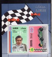 UNITED ARAB EMIRATES AJMAN 1969 MANAMA LOTUS FORD INDIANAPOLIS JIM CLARK CARS RACING BLOCK SHEET BLOCCO FOGLIETTO MNH - Ajman