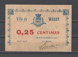 Bon Nécessité  Ville De WASSY  Bon De 0.25 - Bonos