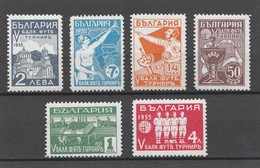 Bulgarie 1935 - Tournoi Balkanique De Football (Yvert N° 252 / 257) (Michel 274 / 279)  (Scott 262 / 272) Neufs* - 1909-45 Koninkrijk