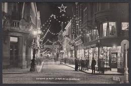 CPA -  Belgique, OSTENDE / OOSTENDE, La Nuit, La Rue De La Chapelle, Carte Photo, Antony - Oostende