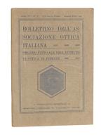 Scienza Tecnica - Bollettino Associazione Ottica Italiana - N. 2 - Aprile 1930 - Unclassified