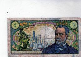 Billet De 5 Francs Pasteur 1-9-1966 En T B - 1962-1997 ''Francs''
