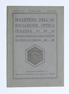 Scienza Tecnica - Bollettino Associazione Ottica Italiana - N. 3 - Luglio 1928 - Unclassified