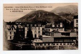 - CPA LOURDES (65) - Hôtel-Villa Sainte-Rose Et Hôtel St-Hubert Réunis - Photo Viron - - Lourdes