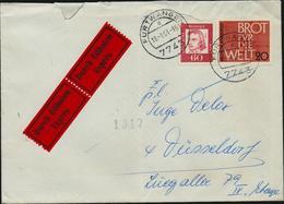 Bund Michel Nr. 357, 389 Auf Exprès Brief, Durch Eilboten, Furtwangen - Düsseldorf 1963, 2 Scans, YT 230, 261 - [7] Federal Republic
