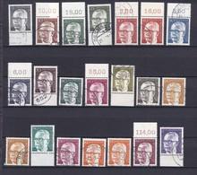 BRD - 1970/73 - Freimarken: Heinemann - OR/UR - Gest. - 22 Euro - Gebraucht