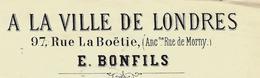 PARIS 1885 MODE ANGLAISE E. BONFILS Rue De La Boetie  VOIR SCANS - France