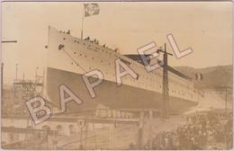 Croiseur Auxiliaire Sant'Anna - Navire Transport De Troupes (Cie Cyprien Fabre) (Mise à Flot En 1910) - Bateaux