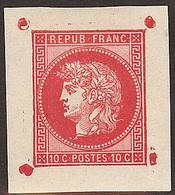 Projet GAIFFE (1876) 10c Rouge, Belles Marges - 1871-1875 Ceres